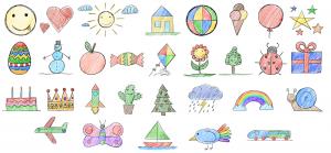 Zeichenschule für Kindergarten- & Vorschulkinder (Online-Video-Kurs + eBook)