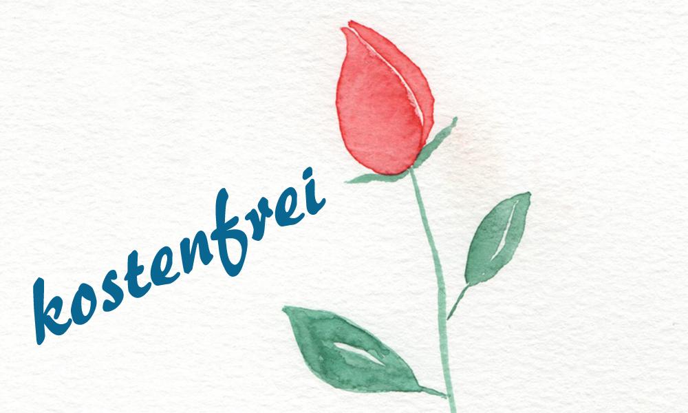 Blumen Aquarell Malen Schnupperkurs für Anfänger und Fortgeschrittene Online